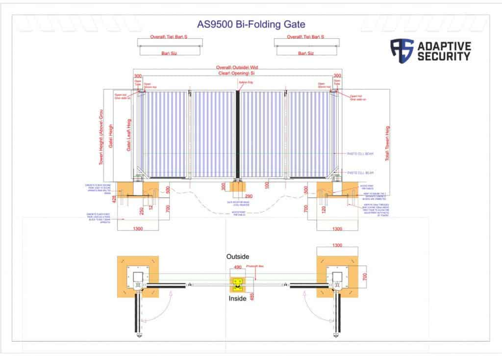 Technical drawing by Adaptive Security