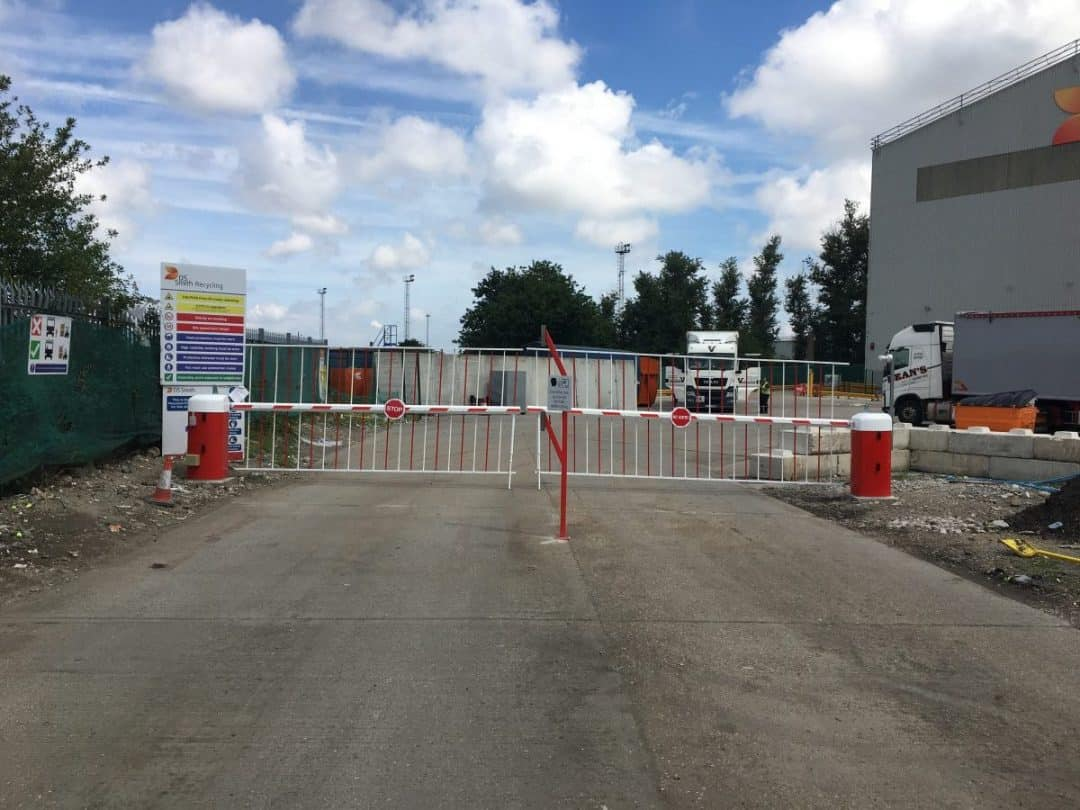 Automated vehicle access barrier and gates with intercom