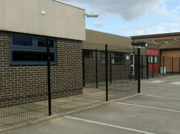 Black security fencing