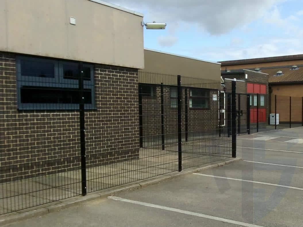 Black security fencing