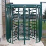 full height turnstile in green