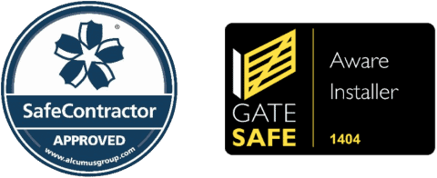 Safe Contractor And Gate Safe Accredited badges
